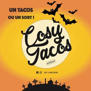 🎃JEU CONCOURS SPÉCIAL HALLOWEEN 👹  Les monstres sont de sortis dans ton @cosytacos ! L'occasion de venir engloutir le fameux Tacos de Luxe spécial Halloween 👻  🤩GAGNE 4 TACOS DE LUXE 🤩  => 2 gagnants ! ! ! !    💻Pour participer : - Abonne toi à notre page instagram 😍 - Tag 3 amis en commentaire 🎁  On se retrouve dimanche 31 octobre à 11h30 pour vous annoncer le gagnant !! 😈🥳